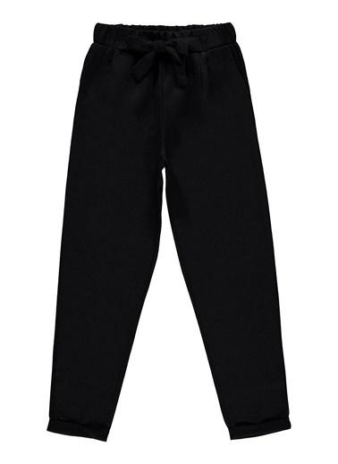 Civil Girls Kız Bebek Keten Pantolon  Siyah
